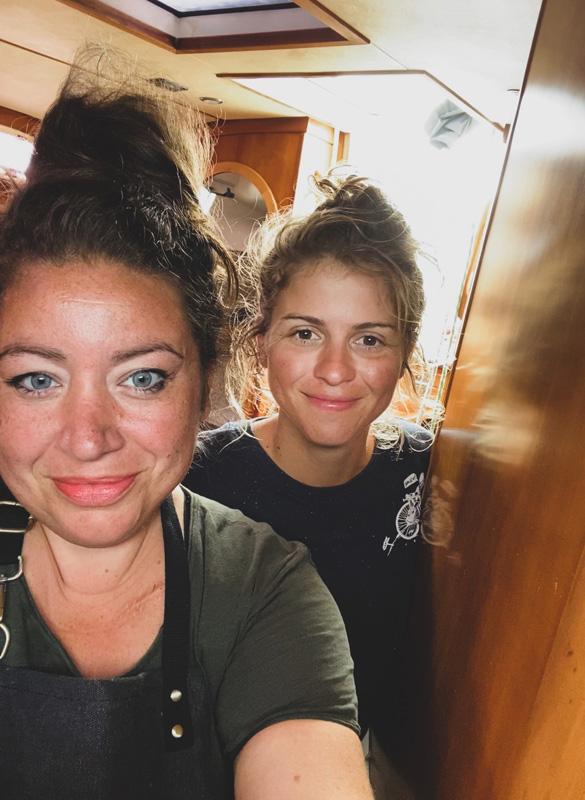 The hosts Marina and Matea vegan sailing vacations plant based food