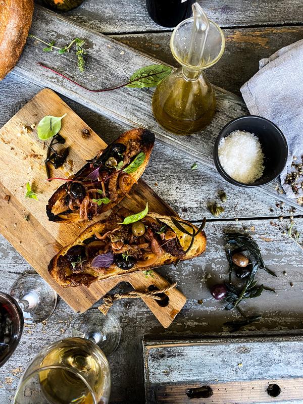 plant-based food plate sailing